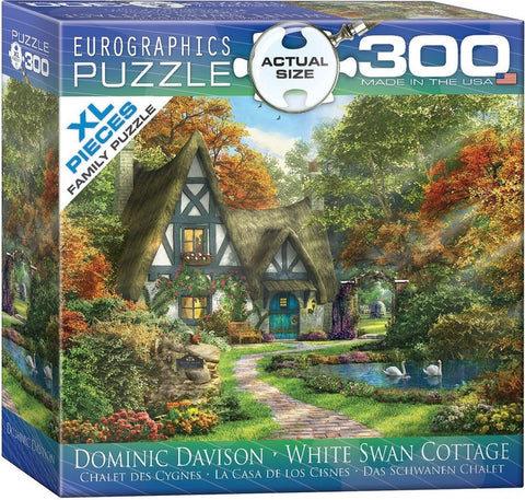 White Swan Cottage - 300 Large Piece Jigsaw Puzzle