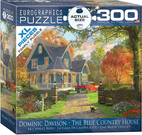 The Blue Country House - 300 Large Piece Jigsaw Puzzle