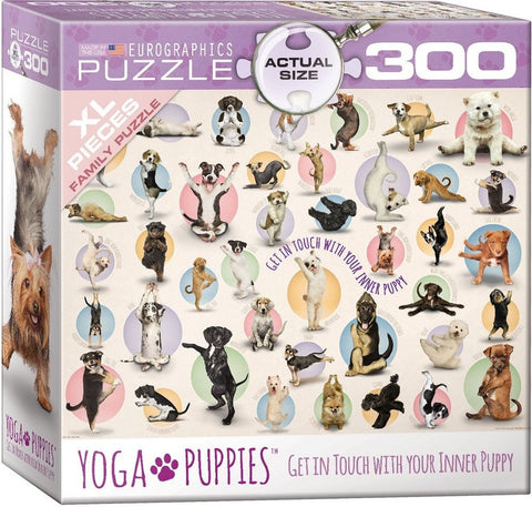 Yoga Puppies - 300 Large Piece Jigsaw Puzzle