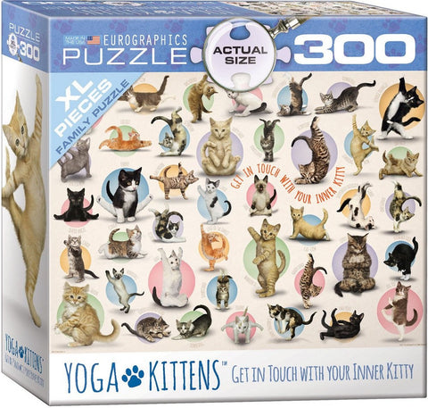 Yoga Kittens - 300 Large Piece Jigsaw Puzzle