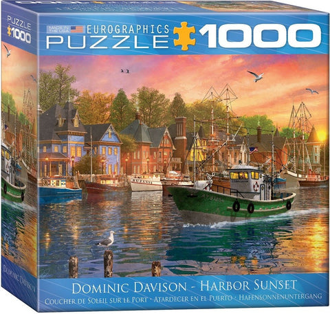Harbor Sunset - 1000 Piece Jigsaw Puzzle
