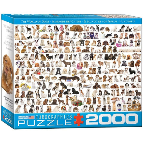 The World of Dogs - 2000 Piece Jigsaw Puzzle