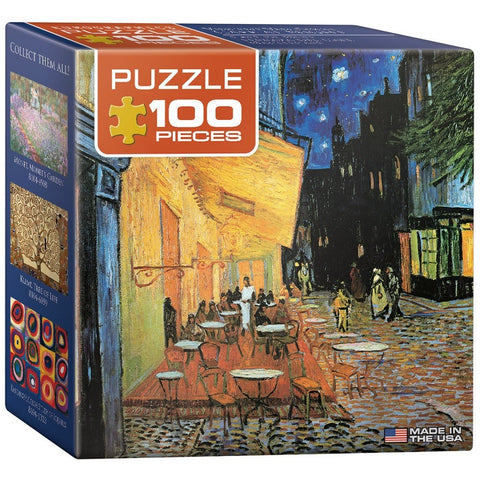 Vincent Van Gogh - Cafe at Night - 100 Piece Mini Jigsaw Puzzle