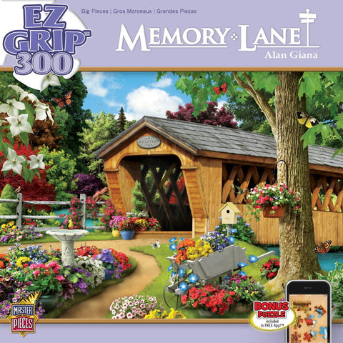 Memory Lane - Garden Bridge - 300 Piece EZ Grip Jigsaw Puzzle