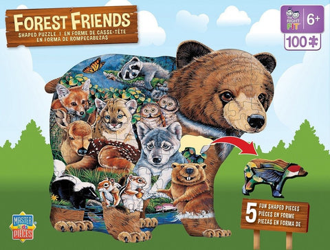 Forest Friends - 100 Piece Shaped Jigsaw Puzzle