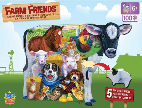 Farm Friends - 100 Piece Shaped Jigsaw Puzzle