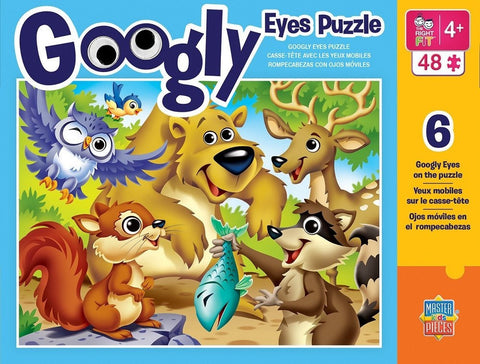 Googly Eyes - Woodland Animals - 48 Piece Jigsaw Puzzle