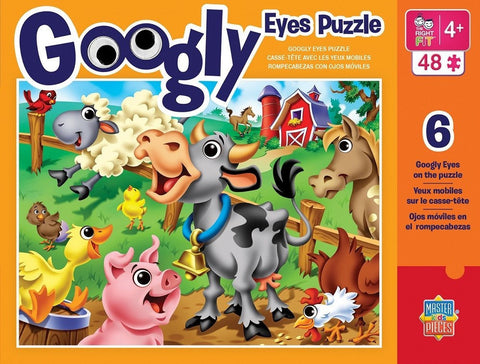 Googly Eyes - Farm Animals - 48 Piece Jigsaw Puzzle