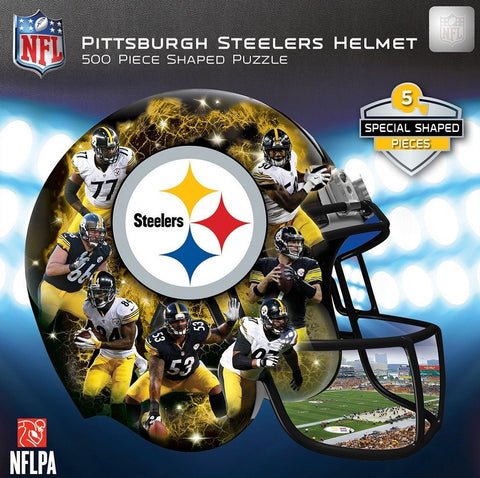 NFL Pittsburgh Steelers Helmet - 500 Piece Shaped Jigsaw Puzzle