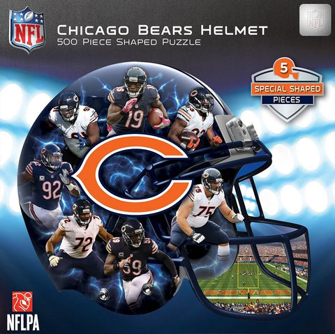 NFL Chicago Bears Helmet - 500 Piece Shaped Jigsaw Puzzle