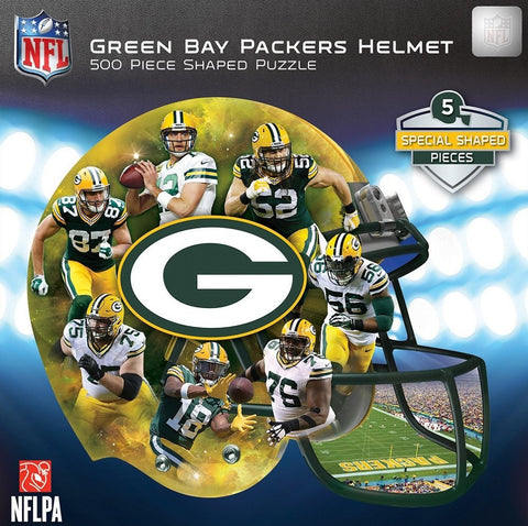 NFL Green Bay Packers Helmet - 500 Piece Shaped Jigsaw Puzzle