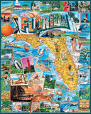 Jigsaw Puzzle Image - 1000 piece State of Florida Map with attractions