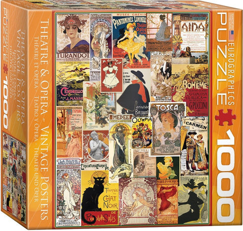 Theatre & Opera - Vintage Posters - 1000 Piece Jigsaw Puzzle