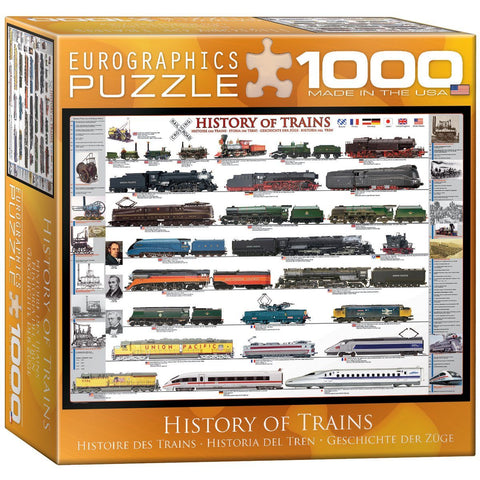 History of Trains - 1000 Piece Jigsaw Puzzle