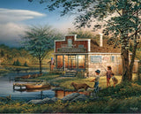 Jigsaw Puzzle Image - 1000 pc childhood memories, kids fishing