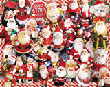 Jigsaw Puzzle Image - 1000 pc collage of santas