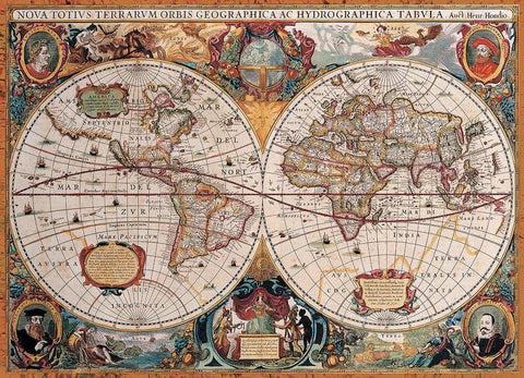 Antique world map 1000 piece jigsaw puzzle games2puzzles antique world map 1000 piece jigsaw puzzle gumiabroncs Choice Image