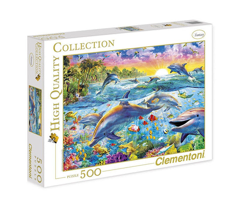 Tropical Dolphins - 500 Piece Jigsaw Puzzle