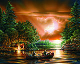 Jigsaw Puzzle Image - 1000 piece Lake, Canoeing, Camping