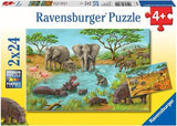 In the Wild - (2 x 24) Piece Jigsaw Puzzles