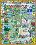 Jigsaw Puzzle Image - 1000 piece Vermont map and attractions