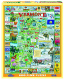 Jigsaw Puzzle Front Box Image - 1000 pc Map of Vermont state