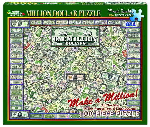 ONE MILLION DOLLARS - 1000 Piece Jigsaw Puzzle
