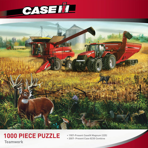 CASE IH TEAMWORK Tractor - 1000 Piece Jigsaw Puzzle - Games2Puzzles