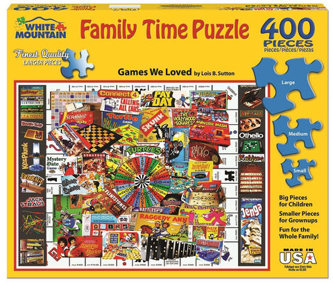 Games We Loves - 400 Piece Family Time Jigsaw Puzzle
