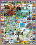 Jigsaw Puzzle Image - 1000 piece Map of New England and places to visit