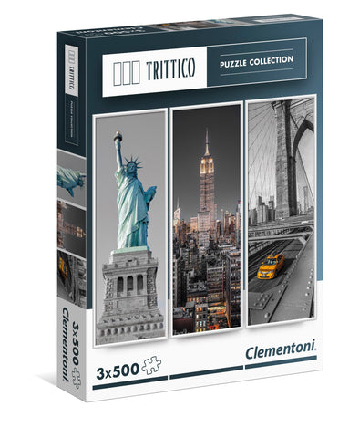 New York City Landmarks - 3 x 500 Piece Jigsaw Puzzle