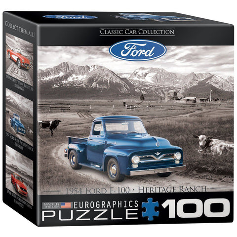 1954 Ford F-100 - Heritage Ranch - 100 Piece Mini Jigsaw Puzzle