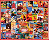 Jigsaw Puzzle Image - 1000 pc Collage of Travel Postcards