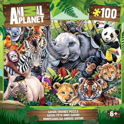 Animal Planet - Safari Friends - 100 Piece Jigsaw Puzzle