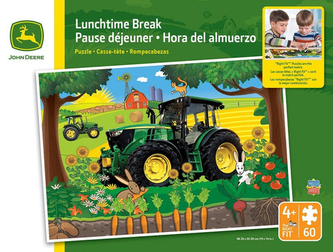 John Deere - Lunchtime Break - 60 Piece Jigsaw Puzzle