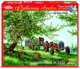 Jigsaw Puzzle Front Box Image - 1000 pc apple picking, farm tractor