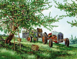 Jigsaw Puzzle Image - 1000 piece - apple tree, farm tractor