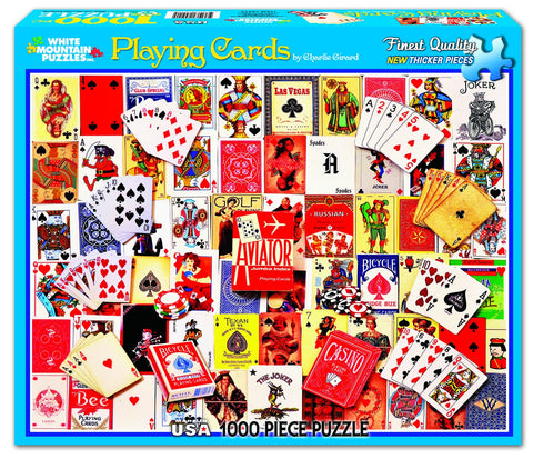 PLAYING CARDS - 1000 Piece Jigsaw Puzzle