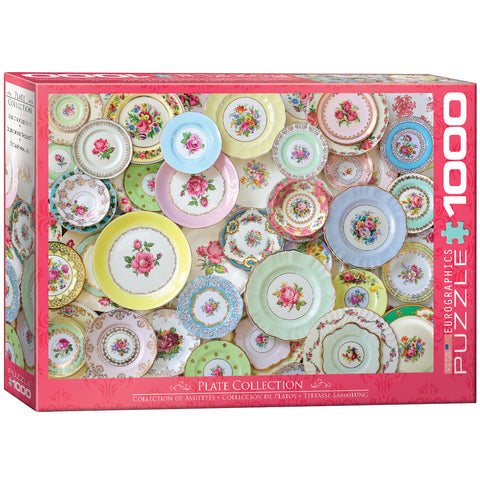 Plate Collection - 1000 Piece Jigsaw Puzzle