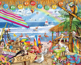 Jigsaw Puzzle Image - 1000 pc Fun at the beach