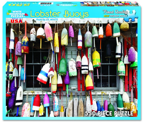 LOBSTER BUOYS - 550 Piece Jigsaw Puzzle