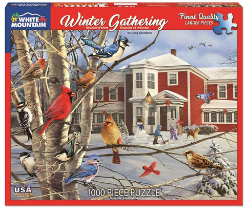 Winter Gathering - 1000 Piece Jigsaw Puzzle
