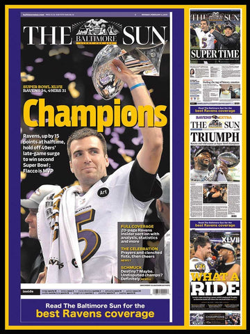 Jigsaw Puzzle Image - 550 pc Baltimore Ravens champions