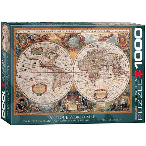 Antique World Map 1000 Piece Jigsaw Puzzle Games2Puzzles
