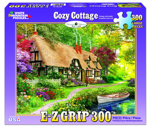 COZY COTTAGE - 300 Piece EZ Grip Jigsaw Puzzle