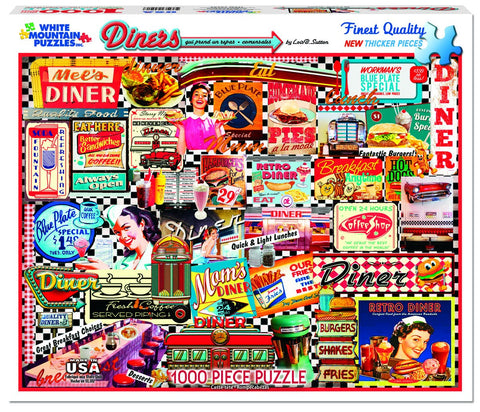 DINERS - 1000 Piece Jigsaw Puzzle