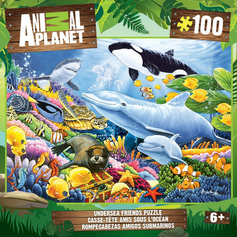 Animal Planet - Undersea Friends - 100 Piece Jigsaw Puzzle