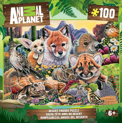 Animal Planet - Desert Friends - 100 Piece Jigsaw Puzzle