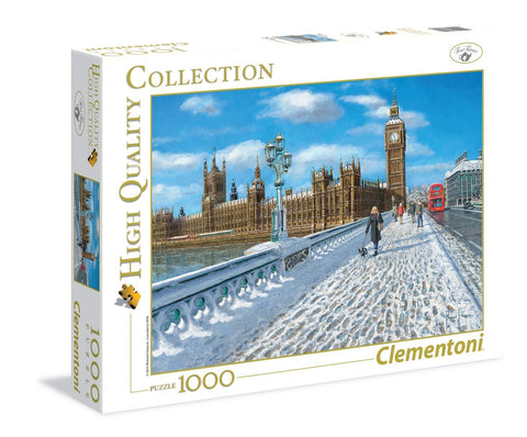London Promenade in the Snow - 1000 Piece Jigsaw Puzzle