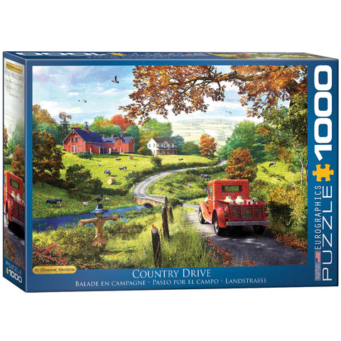 Dominic Davison - Country Drive - 1000 Piece Jigsaw Puzzle
